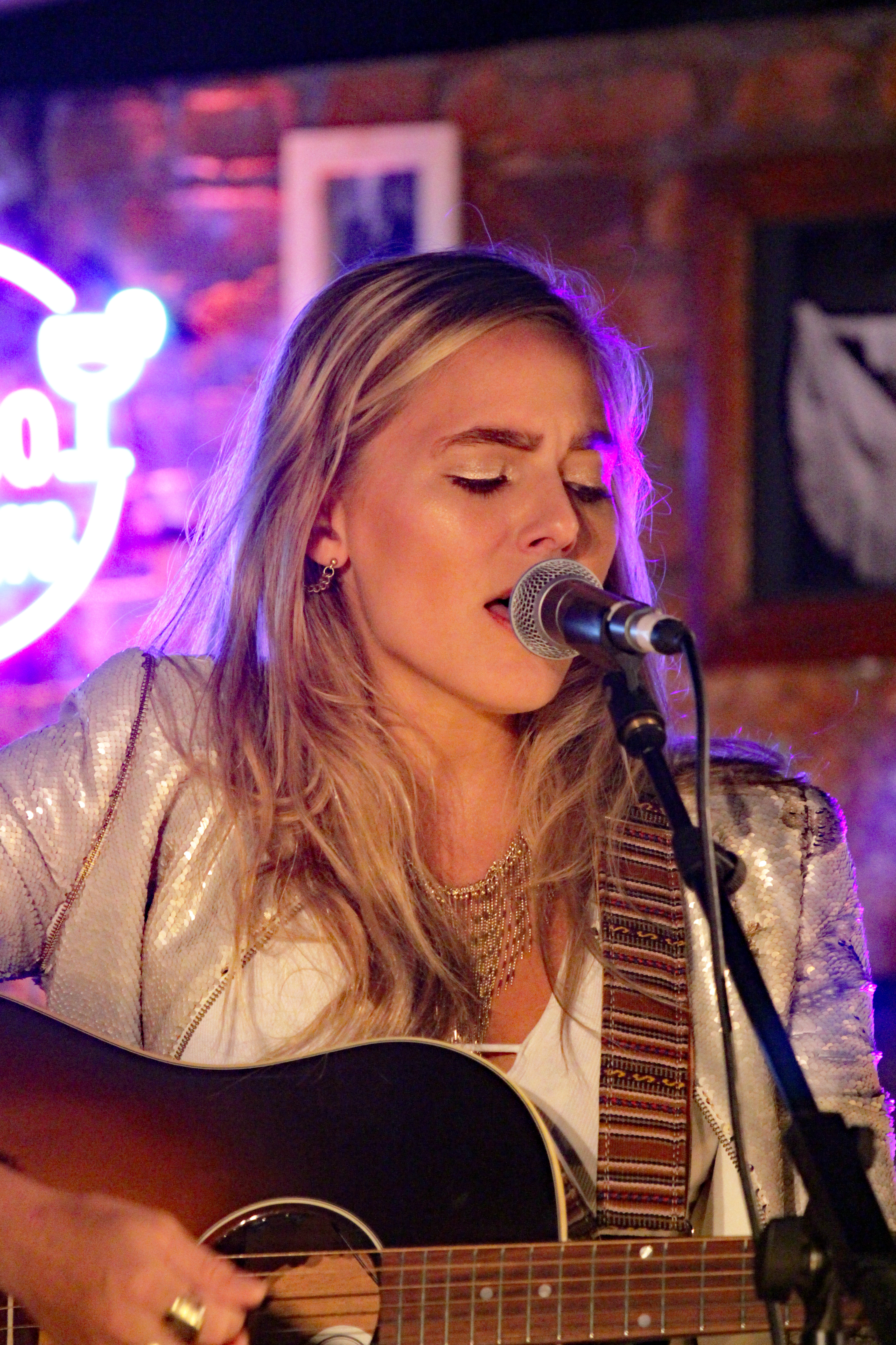 Lauren Jenkins played the intimate Songwriters before hitting the main stage - edited