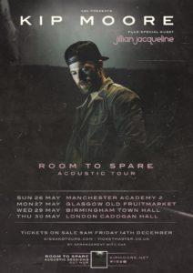 Kip Moore UK Acoustic Tour