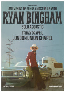 Ryan Bingham UK Tour 2019