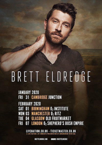 Brett Eldredge UK tour 2020