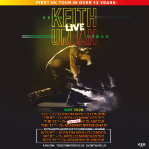 Keith Urban UK Tour