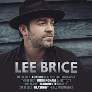 Lee Brice UK Tour 2020