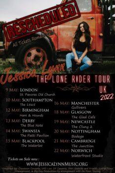 Jessica Lynn Reimagined - The Lone Rider UK 2022 Tour Dates
